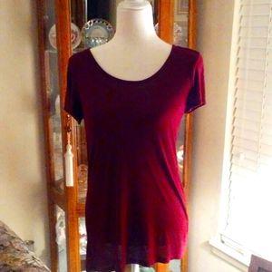 Womens maroon thin blouse